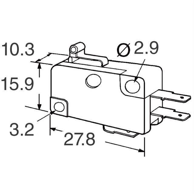 medium lever limit switch