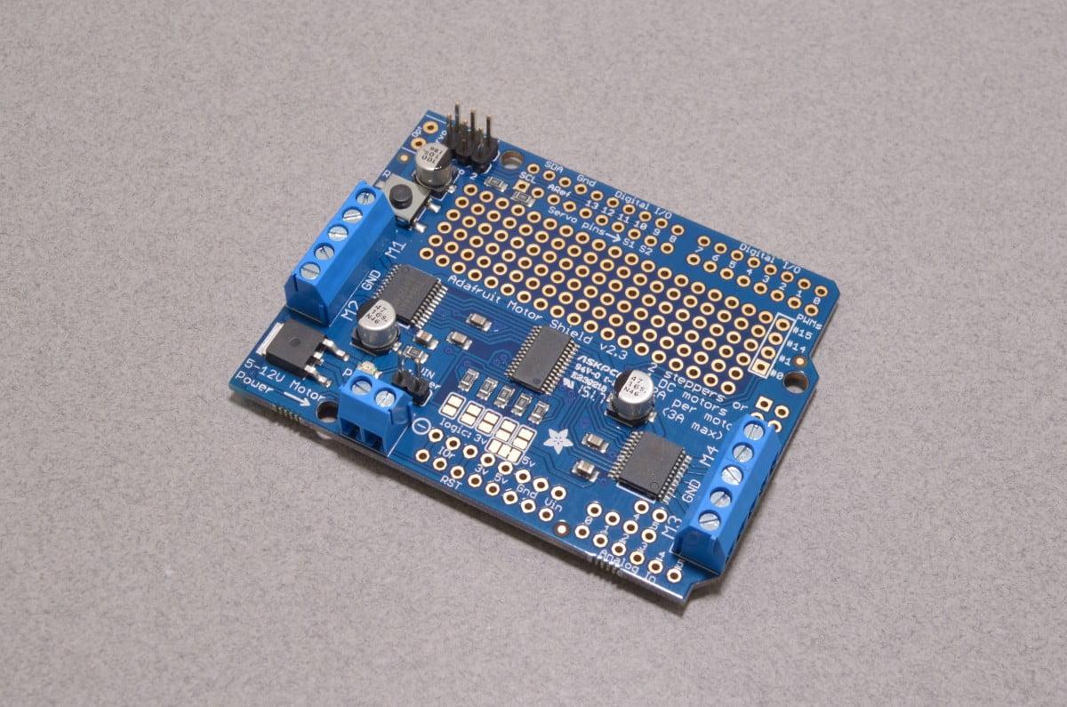 Adafruit motor shield v2 3 motor controller for arduino for Adafruit motor shield arduino