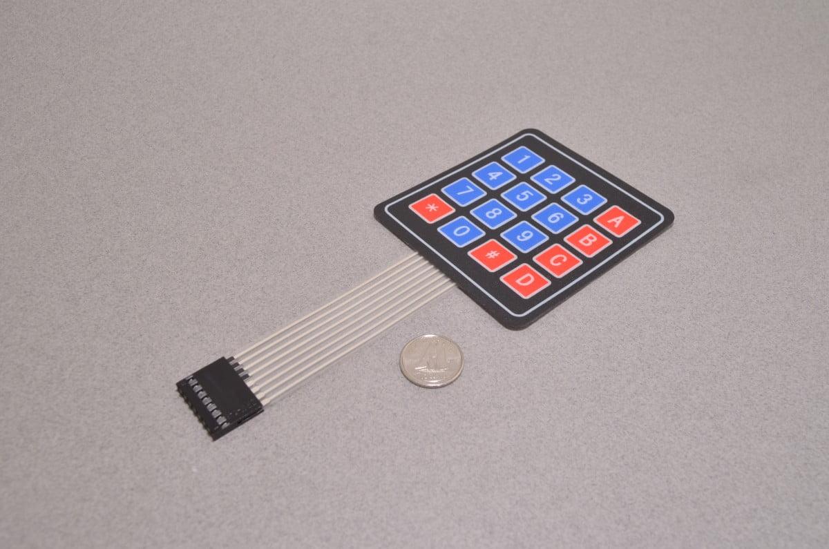 Membrane 4x4 Matrix Keypad - BC Robotics