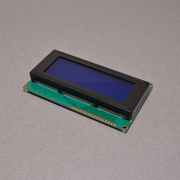 20x4 Character LCD with blue background