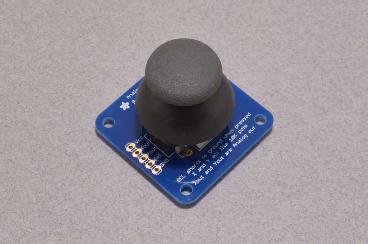 Analog 2-axis Thumb Joystick with Select Button - BC Robotics