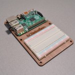 Wooden project mounting plate for Raspberry Pi