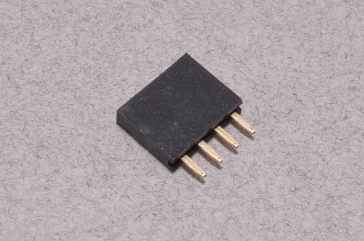 female header - 4 pin 2 54mm    0 100 u0026quot