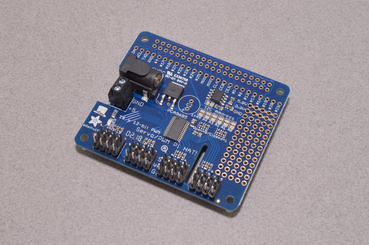 PWM/Servo HAT for Raspberry Pi - Adafruit 2327 - BC Robotics
