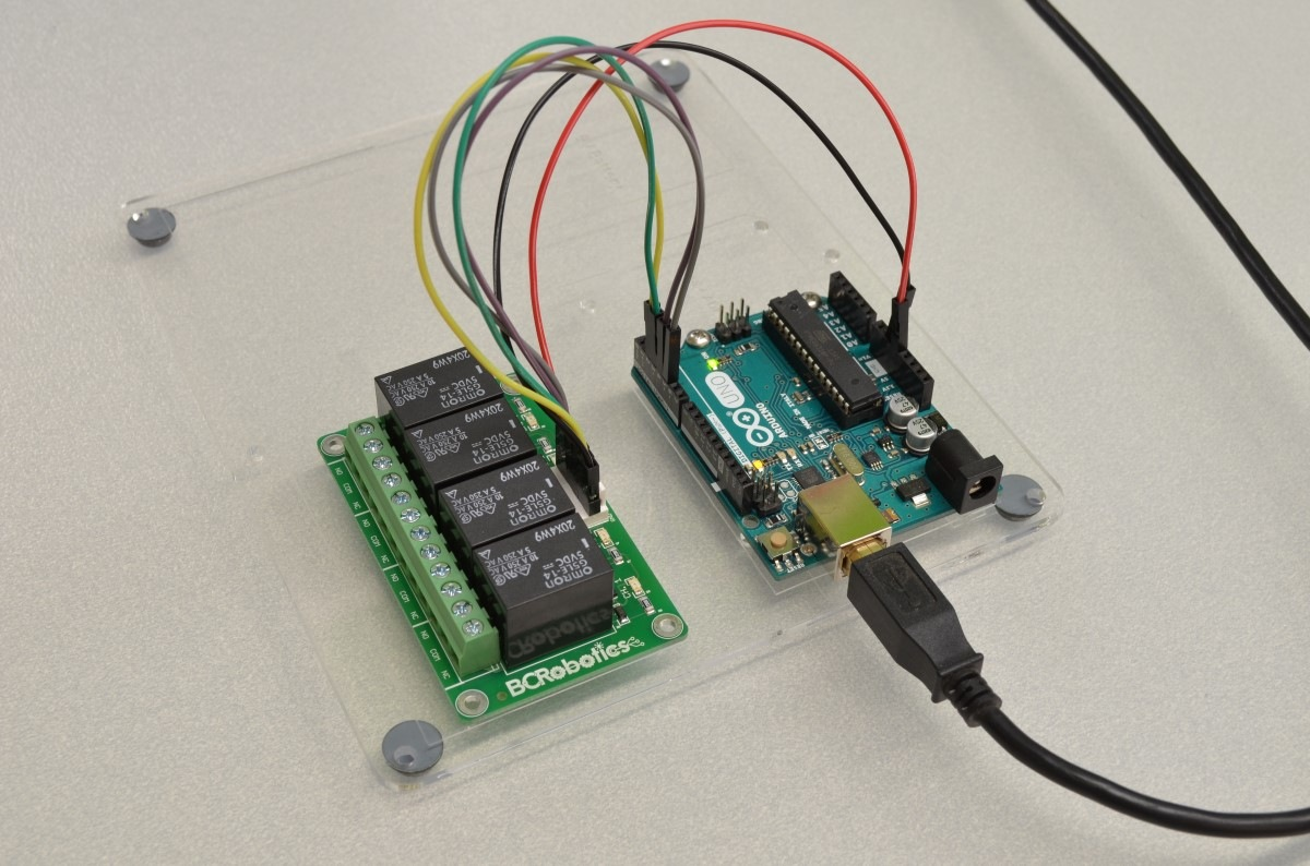 Getting Started With The 4 Channel Relay Breakout Bc Robotics Arduino Ethernet Switch 5