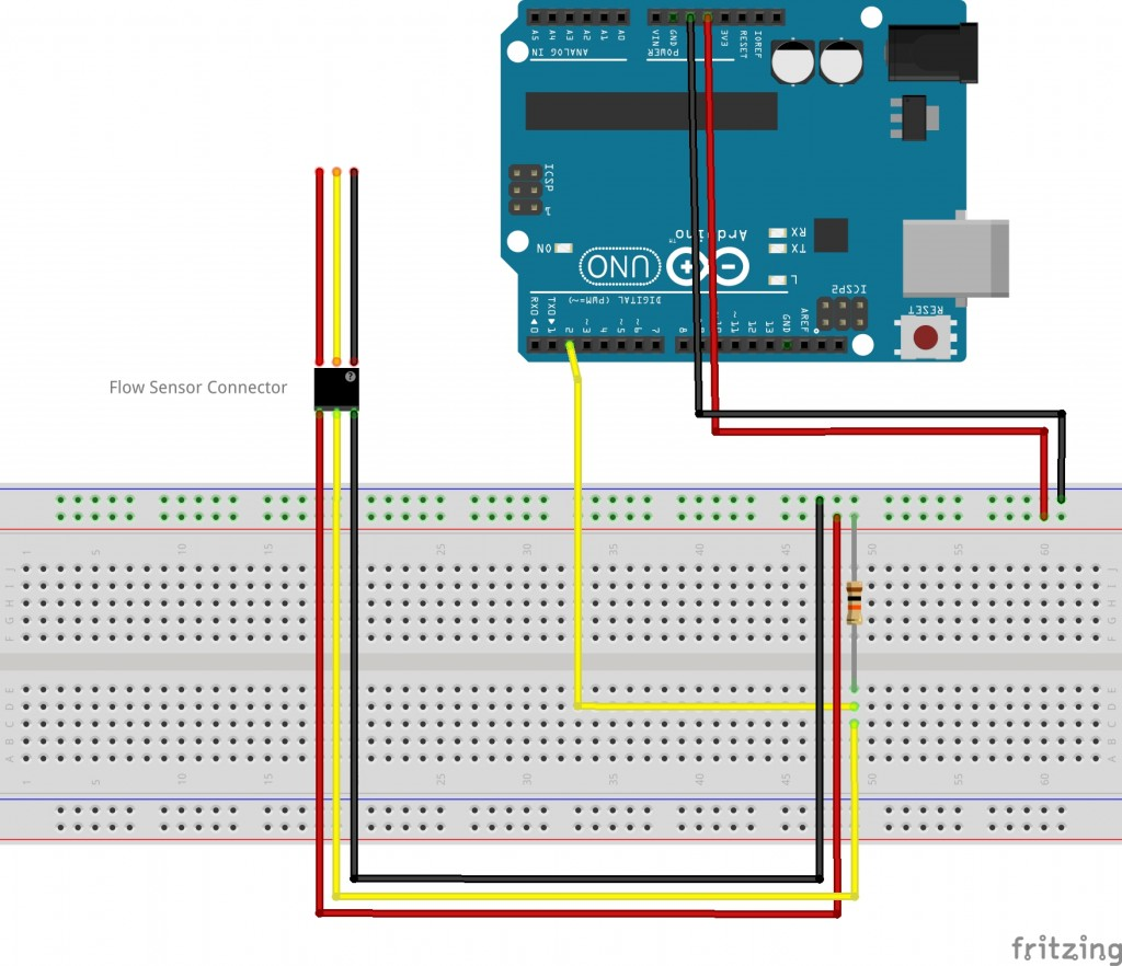 Using A Flow Sensor With Arduino Bc Robotics Liquid Sensing Circuits Sensors Detectors Sketch1