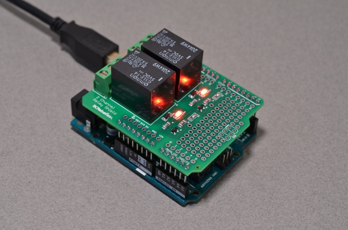 Snap Basic Arduino Relay Shield Example Learning Photos On Hobbyistconz 2 Channel Bc Robotics