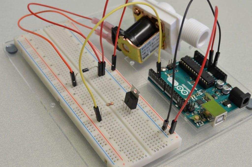 Controlling A Solenoid Valve With Arduino - BC Robotics
