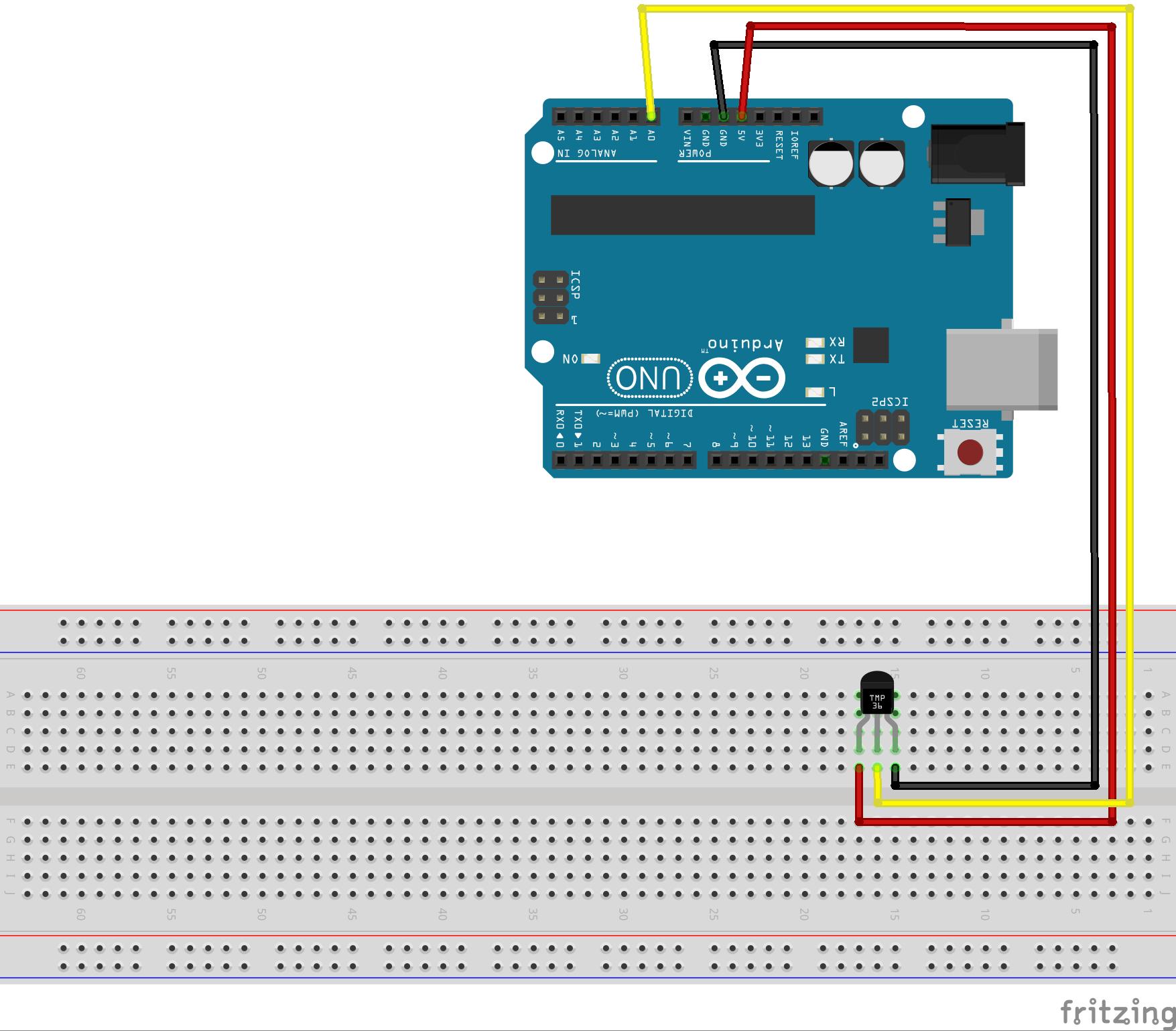 Using a tmp temperature sensor with arduino bc robotics
