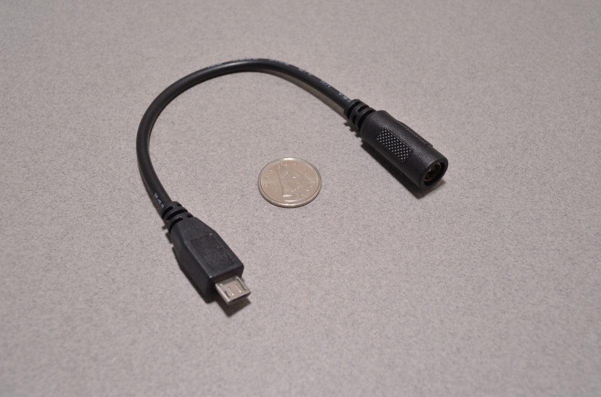 Dc Barrel To Usb Micro Adapter Bc Robotics