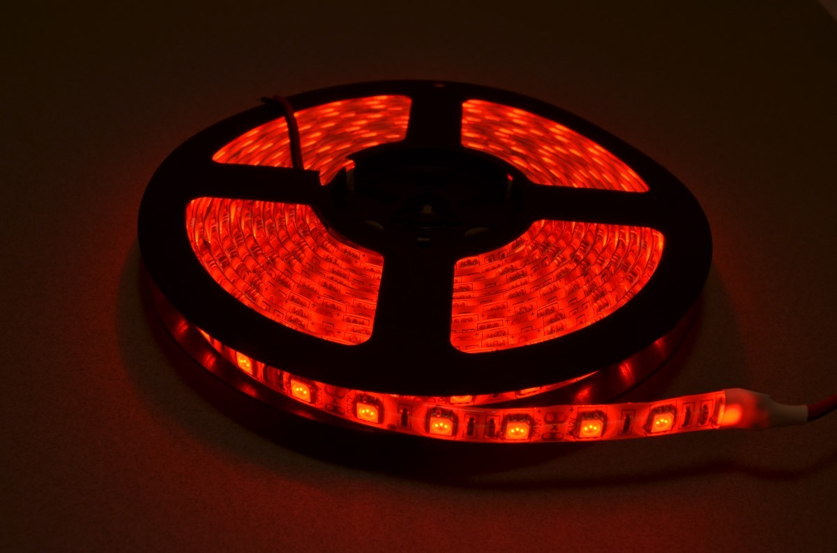 Red led strip light 5 meter roll bc robotics red led strip light mozeypictures Gallery