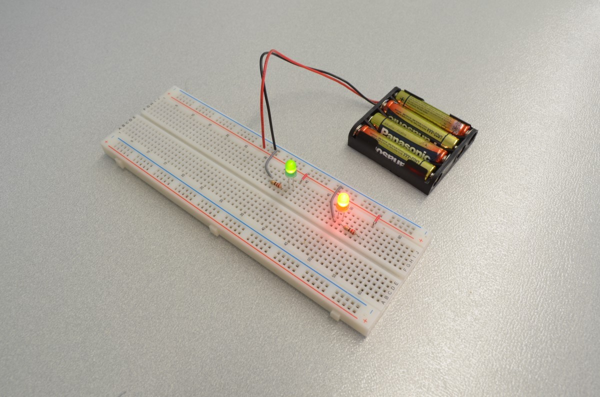 Led Circuit Series Led Breadboard Led Schematic
