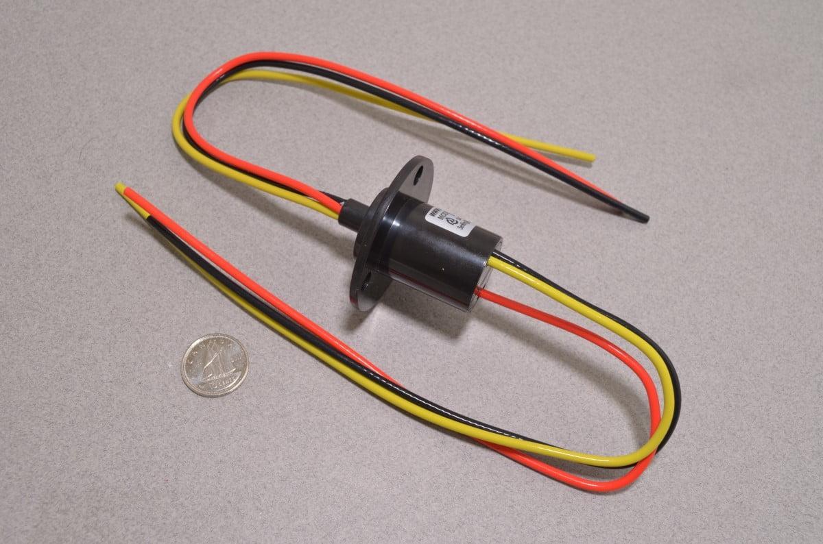 Slip Ring - 3 Wire 16AWG - 10A / 380VAC/DC - BC Robotics