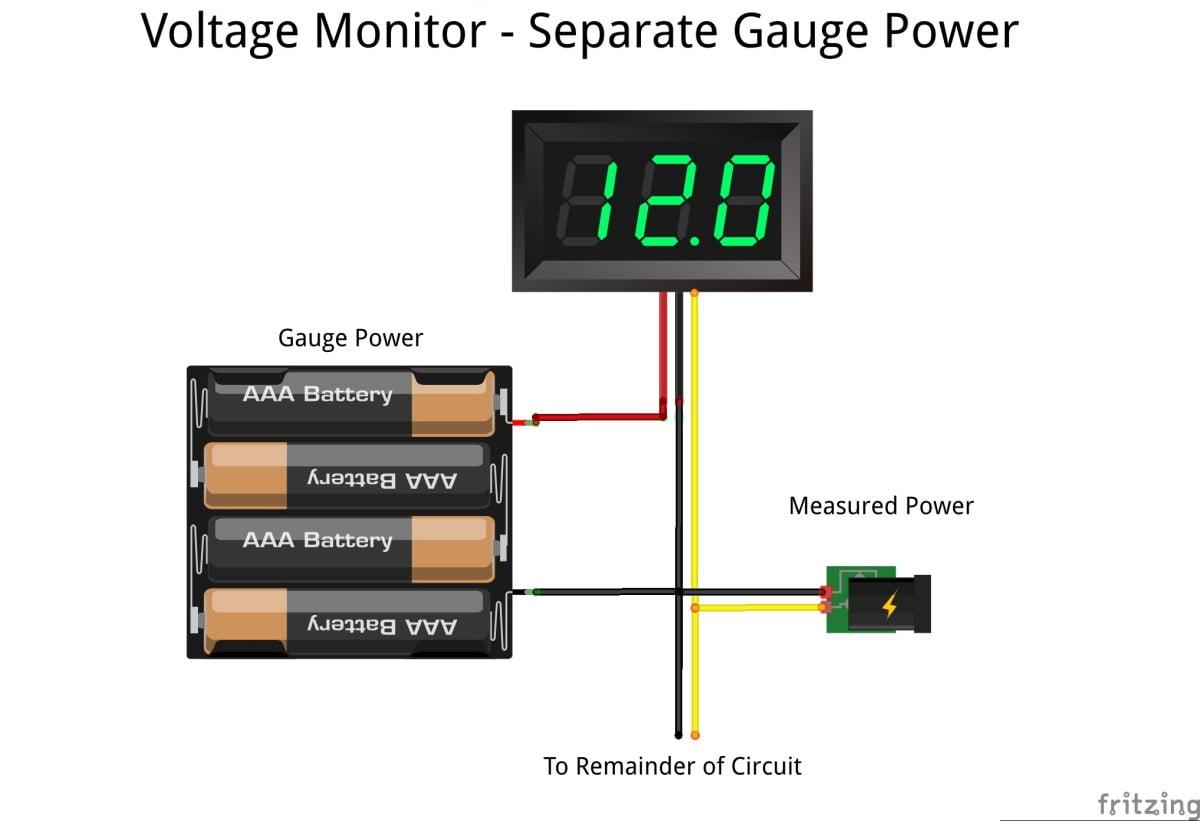 Mini Volt Meter Red Voltage Gauge Bc Robotics Wiring Add To Wishlist Loading